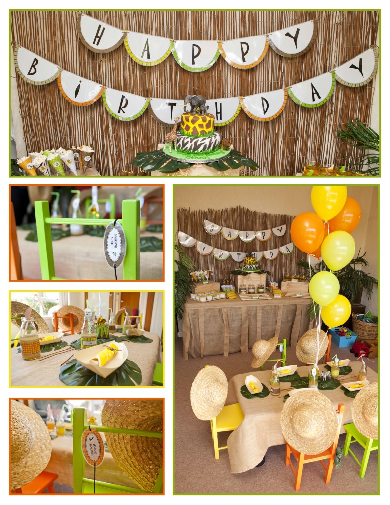 Jungle safari birthday party as you wish events for Decoration jungle